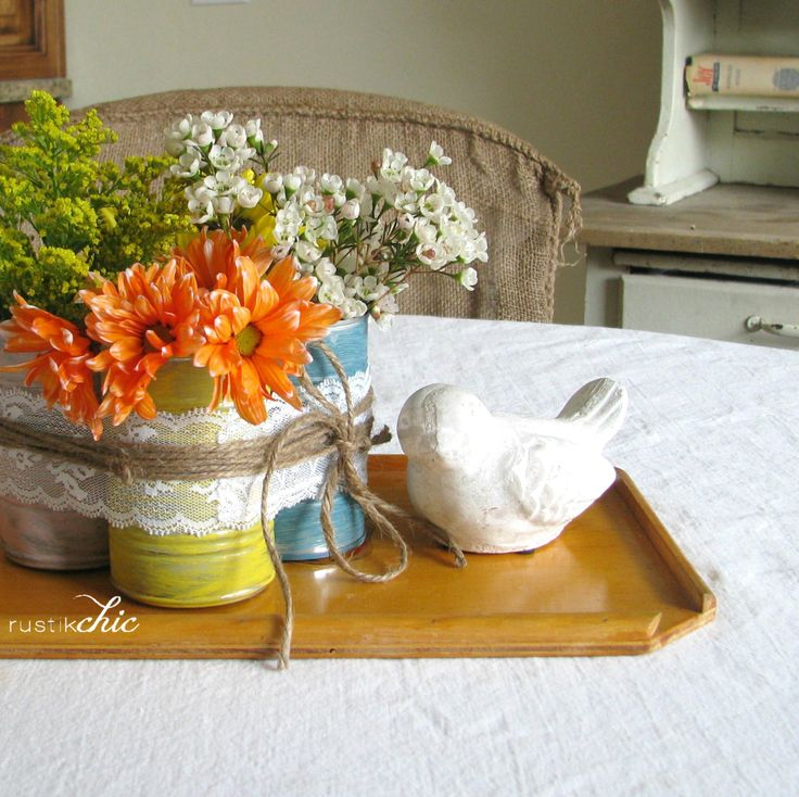 diy Spring Centerpiece - Create - Rags to Stitches