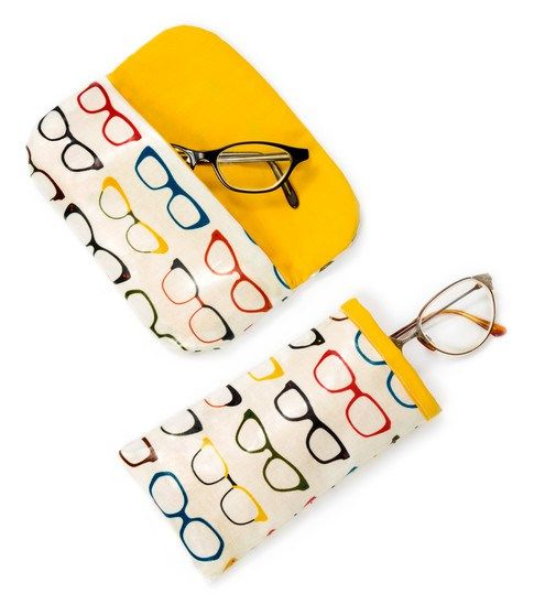 Sewing Pattern for a Glasses Case from Robert Kaufman Fabrics