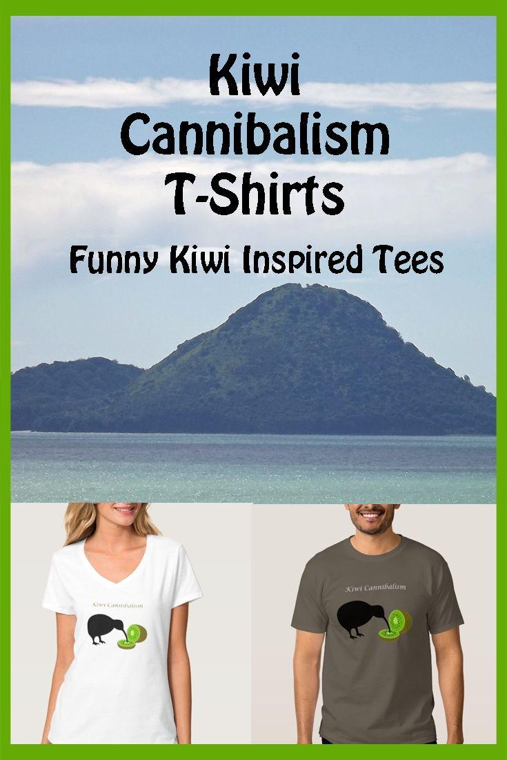 Kiwi Cannibalism T-Shirts, just one funny Kiwi inspired tee.