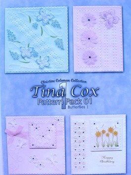 PATTERN PACK 1 - BUTTERFLIES 1 BY TINA COX    Four beautiful butterfly designs.