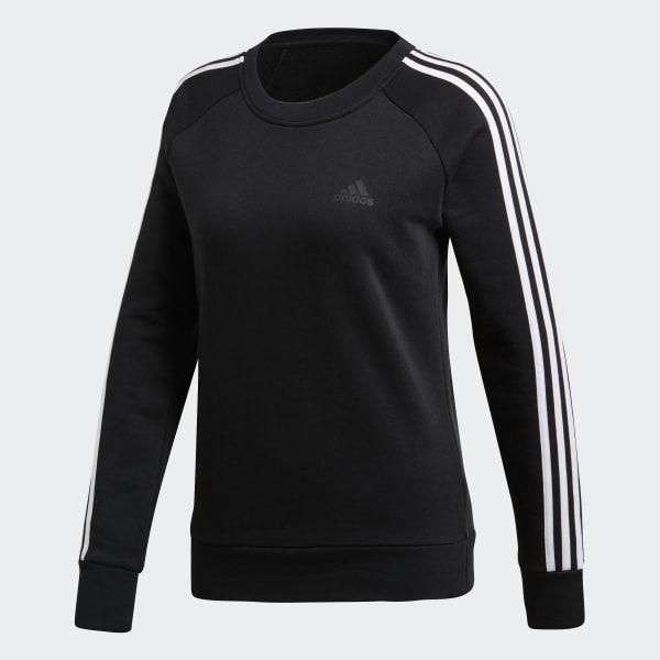 3 Stripes Sweatshirt Black DQ1413 | Sweatshirts, Striped