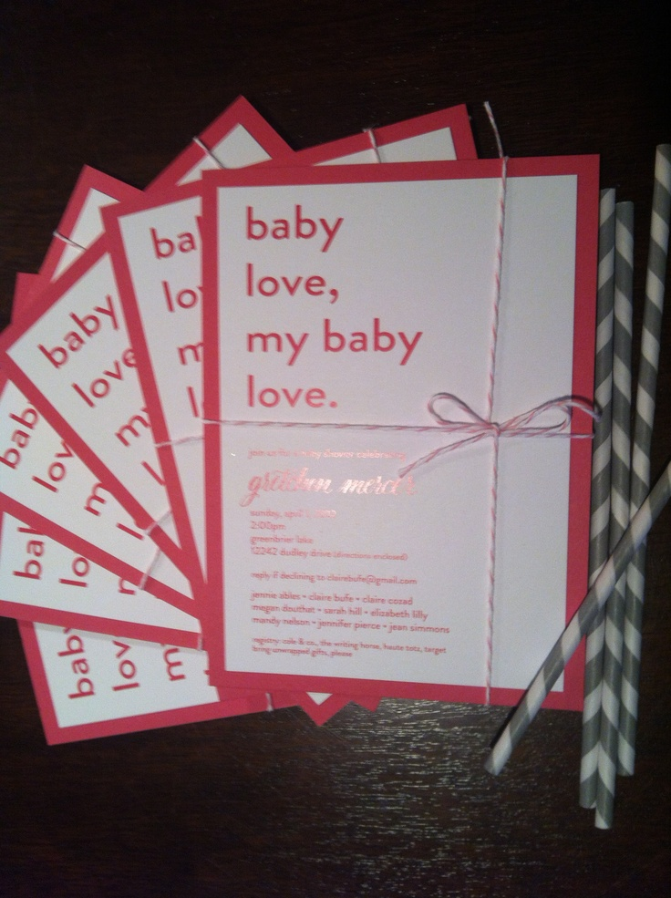 Baby Love invitation for CampOutdoors Themed Baby