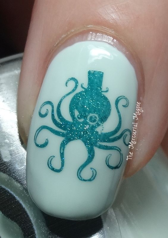 Octopus Party Nail Lacquer Spume-Fed Swatches & Stamping with Messy Mansion MM43