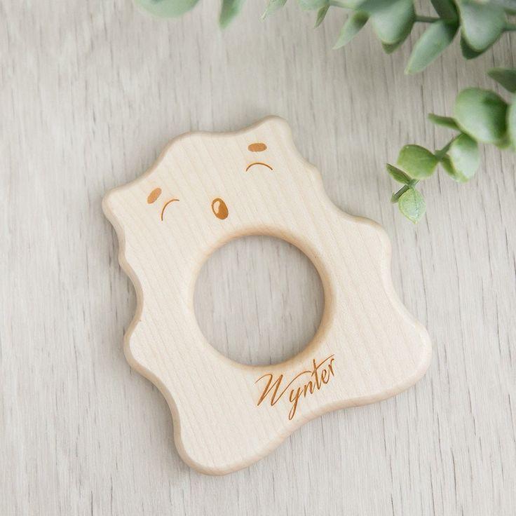Personalised Teething Bear | noc noc wooden toys