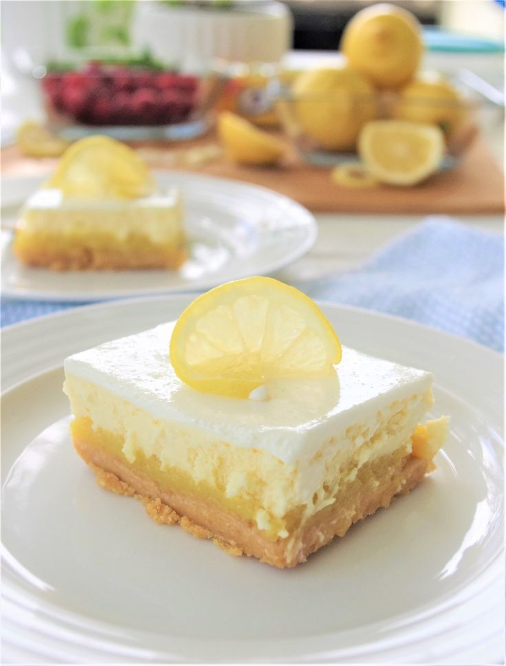 Lemon Sour Cream Cheesecake Dessert Bars with Lemon Oreo Crust - Easy Layered Treats Recipe by Dreaming in DIY