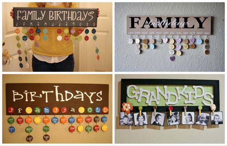 Fàcil de recordar  Family Birthday Reminder Calendar