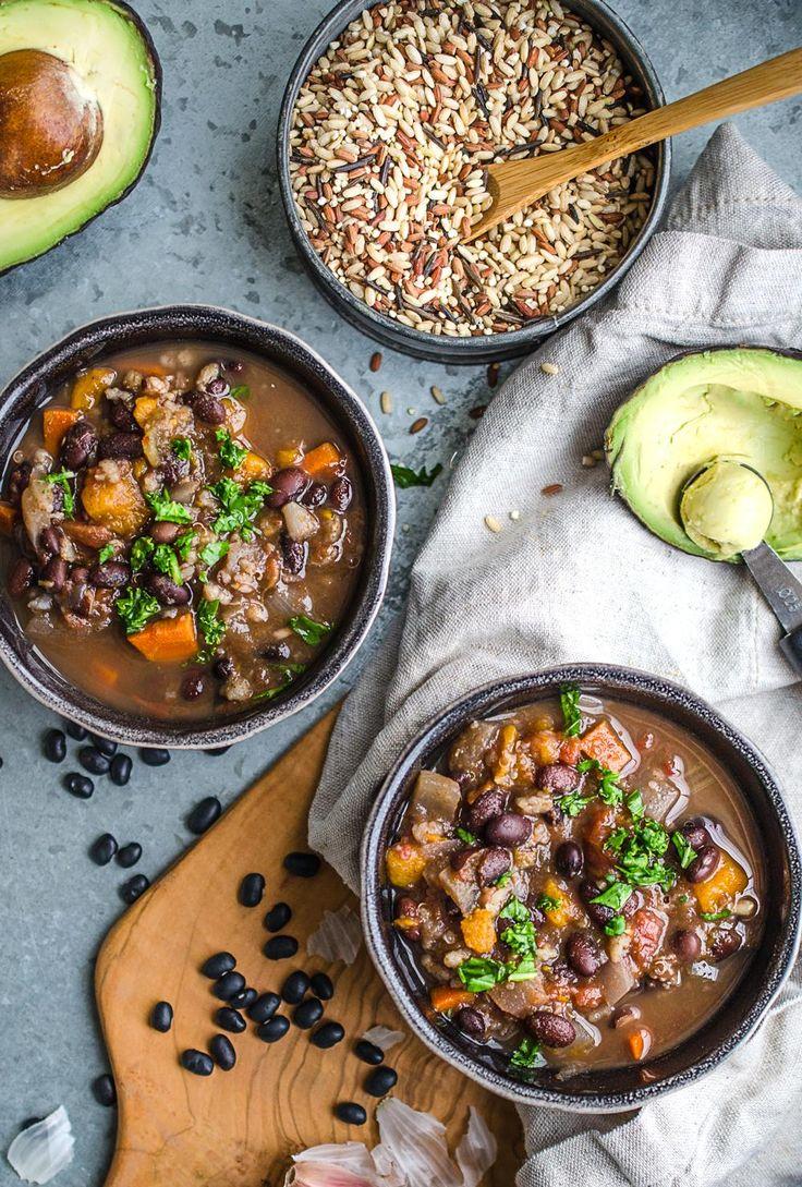 Spicy Vegan Slow Cooker Black Bean Soup