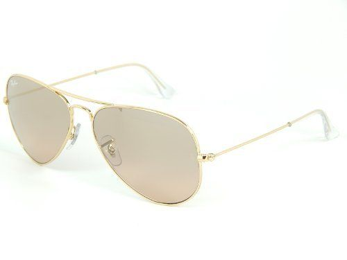 8719e83481 New Ray Ban Aviator RB3025 001 3E Gold  Silver Pink Mirror 55mm Sunglasses