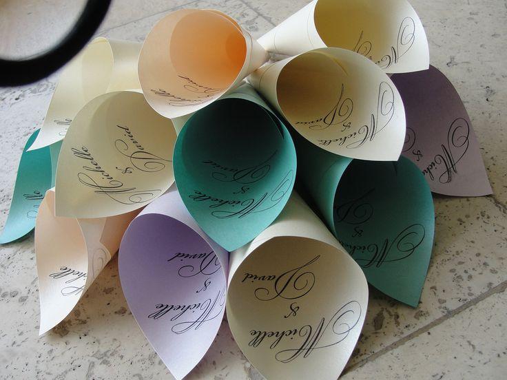 Personalized Wedding Petal Favor Cones - Set of 50. $25.00, via Etsy.