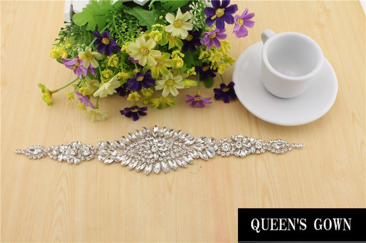 2015 Rhinestone decorate pageant sashes Crystal  rhinestone belt rhinestone trimming for wedding dress Applique  RT006
