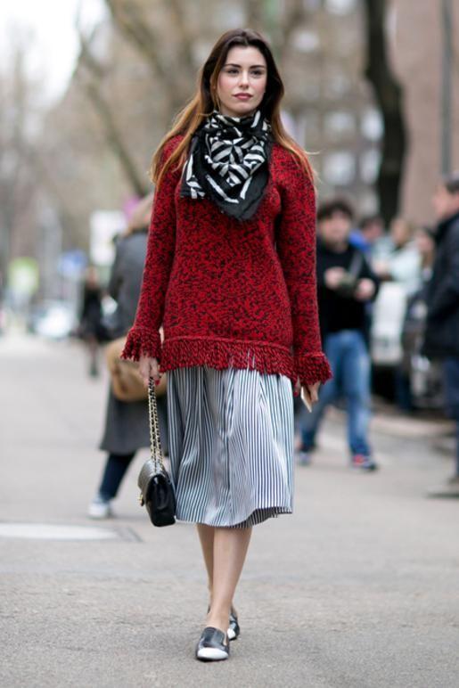 17 μίντι φούστες για lady chic εμφανίσεις