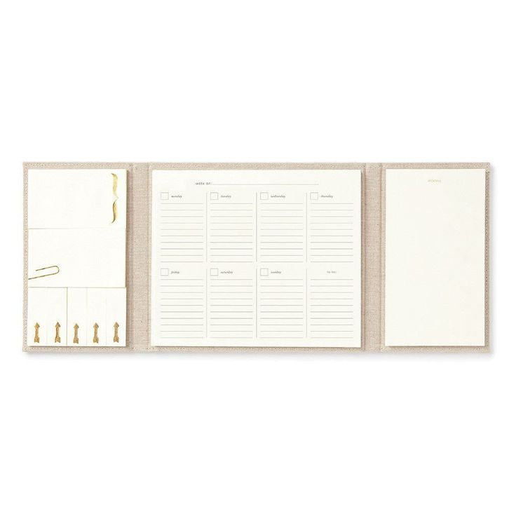 For the lady who likes to get into the weeds, an entire Kate Spade New York organizational system, replete with matching sticky notes, weekly planning pages and notepad. All beautifully wrapped in a l