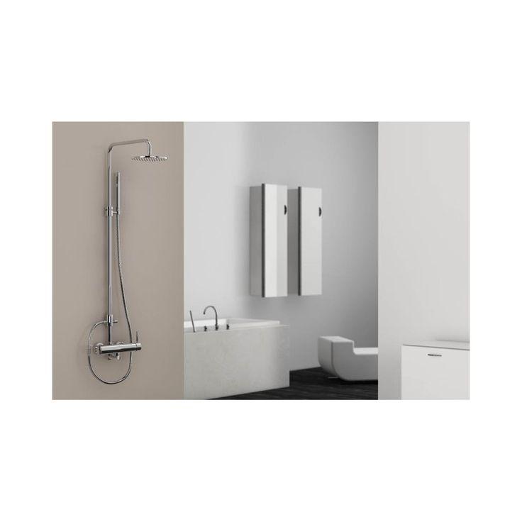 Colonne de douche externe 1002760, série100 (mitigeur, inverseur, tête de douche diam 18,75cm et douchette) - CasaLux Home Design
