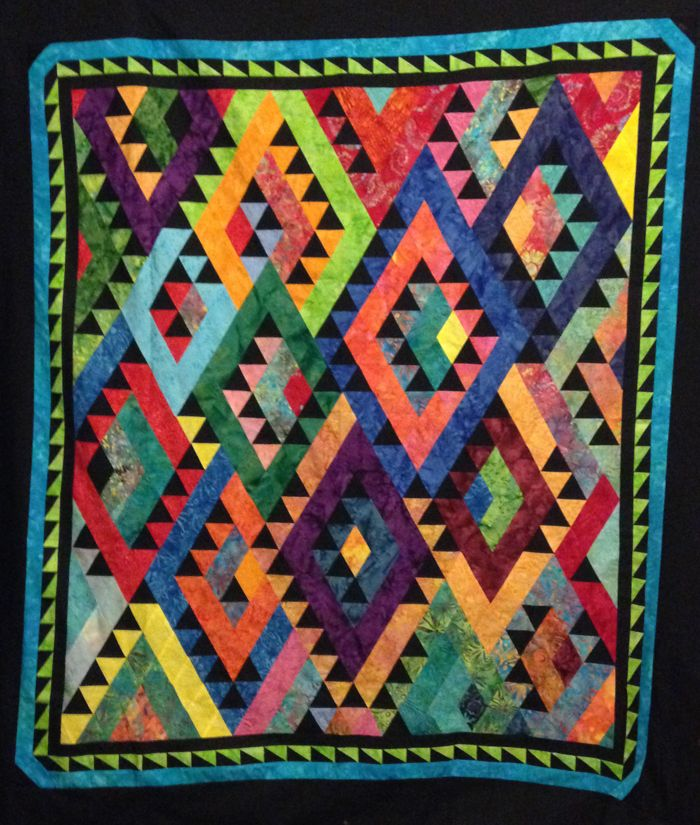 Intermediate Quilting Patterns : Indian Blanket Quilt Pattern MGD-314 (intermediate, lap and throw) Quilting Pinterest ...