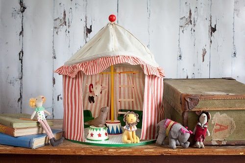 Maileg Circus Big Top Tent and Circus Mice and Animals