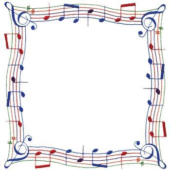 Music Note Border embroidery design Ilustraciones
