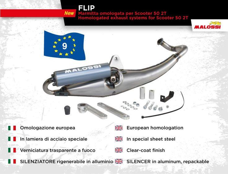 🆕 Nuove Marmitte FLIP 🆕 Omologate per Scooter 50 2T, in lamiera di acciaio ottenuta con procedimenti di stampaggio ➠ http://www.malossistore.it/marmitta-flip-omologata-3217170-P