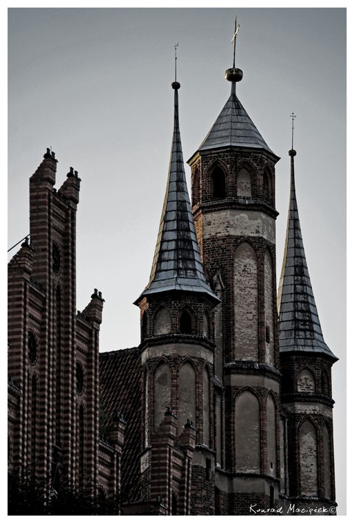 Towers in Torun (Poland)