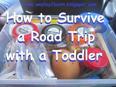 Playing to Learn: Tips and activities to survive a long road trip with a toddler.