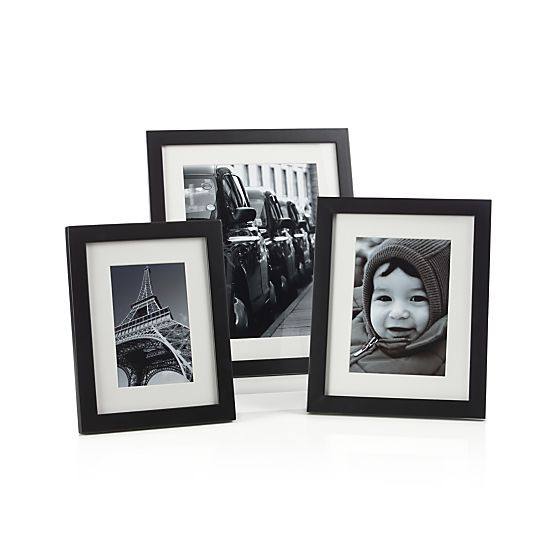 Matte Black 5x7 Picture Frame  | Crate and Barrel