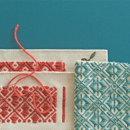 Japanese kogin embroidery
