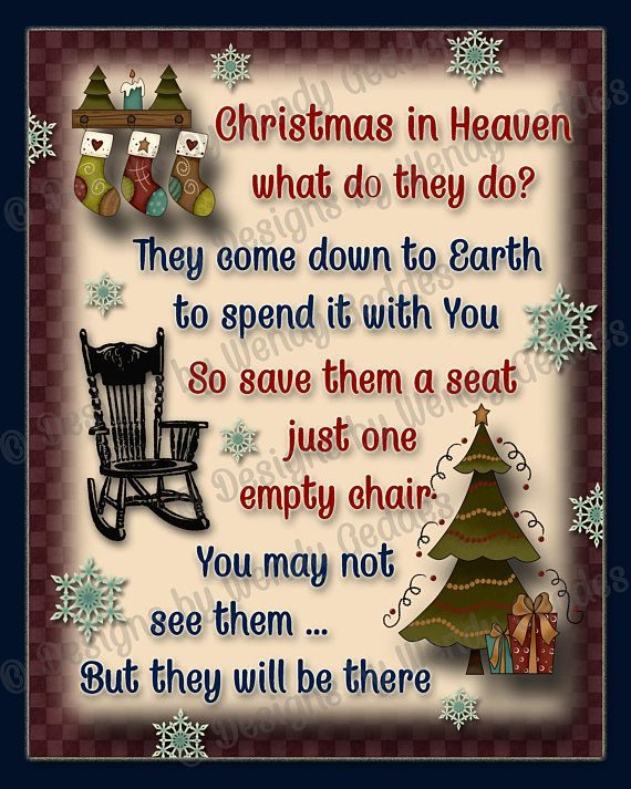 #Printable wall art - Christmas in Heaven what do they do 8x10 Graphic art print
