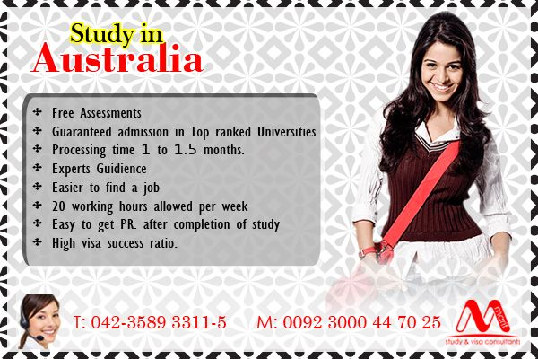 Hurry up! get admission in Top Ranked Universities of Australia, our study counselor will help you in getting admission and also for visa file, Call us: Landline: 042-3589 3311-5 (5 Lines) Mobile: 0300-0447025 www.marifinternational.com Building No.5, 2nd Floor, L-Block, Commercial Area, Phase-1, DHA Lahore, Pakistan #Student #Visa #help #Admission #Australia #IELTS #TopRanked #Universities #StudyCounselor