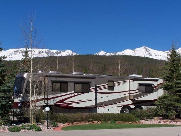 Never get tired of these views! Tiger Run RV Resort at Breckenridge Colorado ... ...