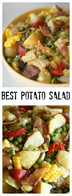 Best Potato Salad: Delicious potato salad with not a ton of dressing!