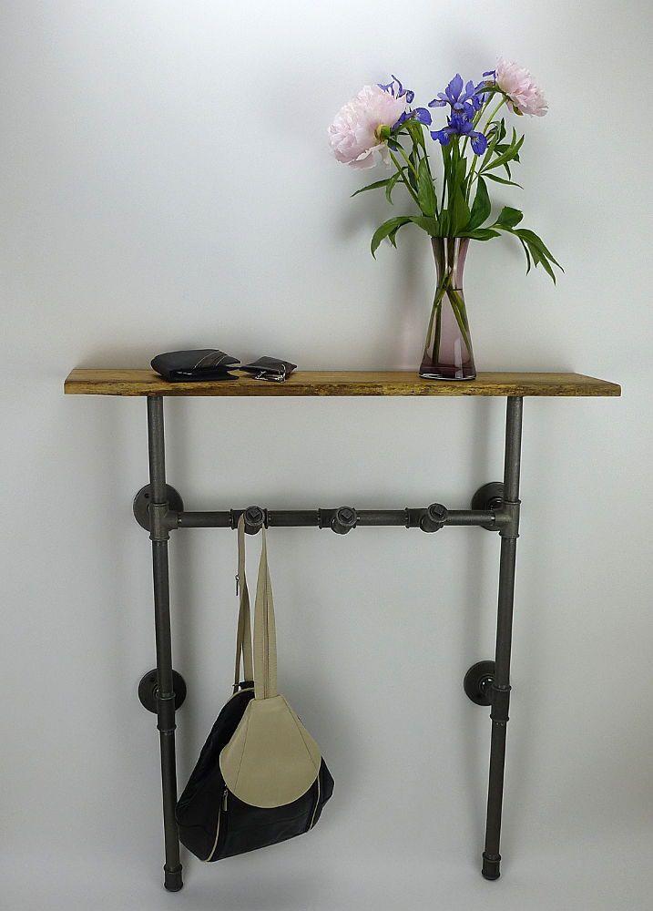 Garderobenablage No.1 Industrial Pipe Industriedesign Stahlrohr Möbel  ilTubo Wohnakzente Online-Shop