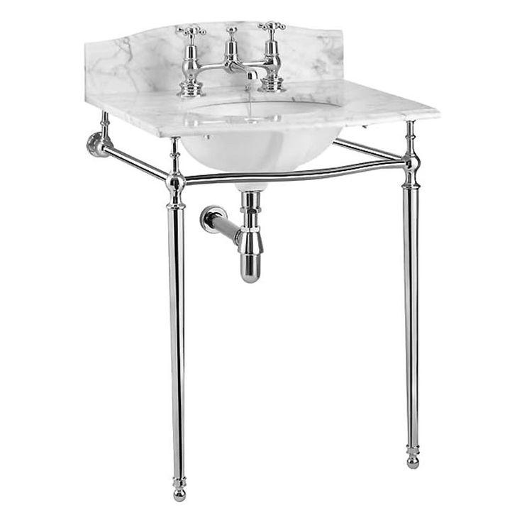 Margavine Basin 2TH and Chrome Wash Stand - 8252/2