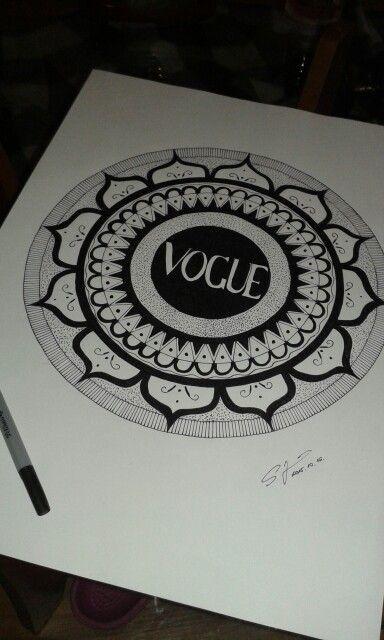 #vogue #art #mandala
