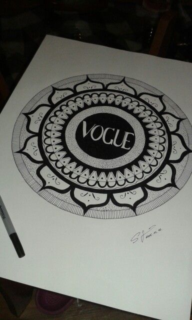 #vogue #art #mandala