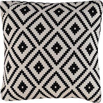Monochrome Geometric Cushion 50x50cm