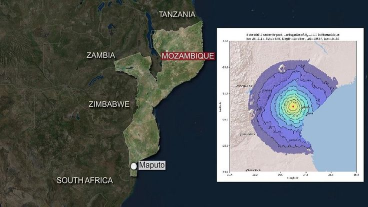 06/24/2017 - Mozambique hit by 5.8 magnitude earthquake - it is the fourth earthquake to hit the southern African country over an 11 year period. No damages have been reported.