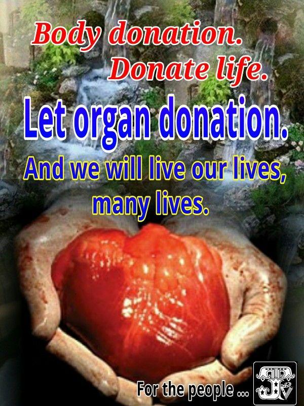 Organ donation.