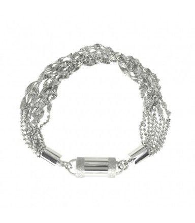 """""""Silver Glimps"""" - Modular Jewelry - Armband, das im Handumdrehen zur #Kette werden kann"""