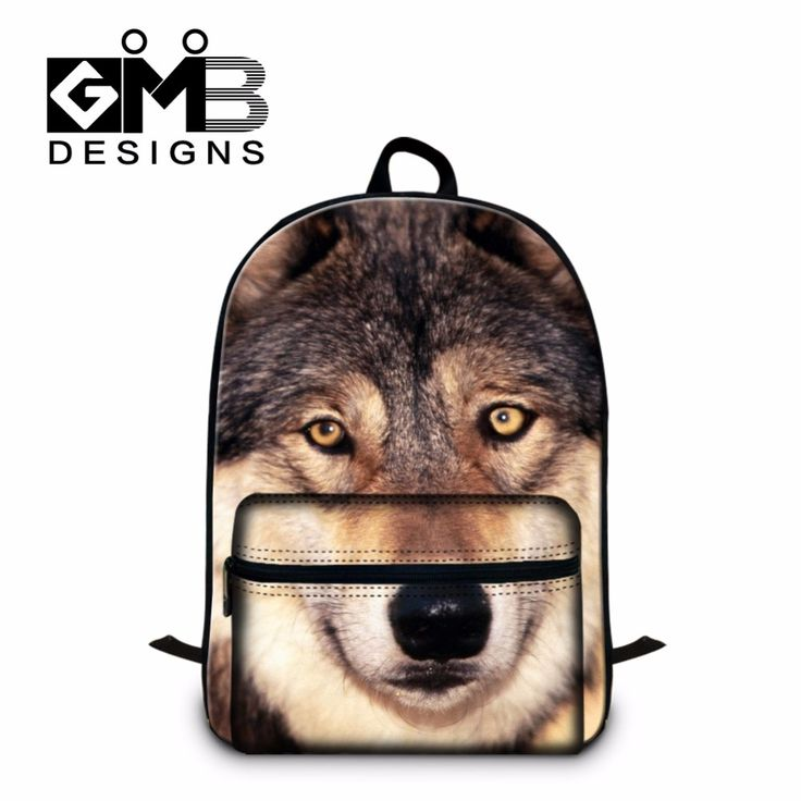 Cool Wolf 3D Printed School Backpacks for Boys,Teenagers Back pack for girls stylish Backpacking Bags for men,Children's Bookbag #Affiliate