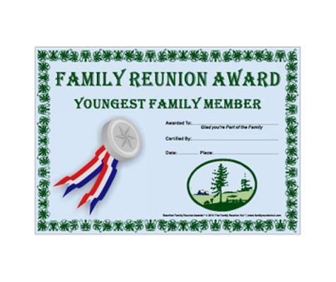 18 best images about family reunion on pinterest trees for Free family reunion certificates templates