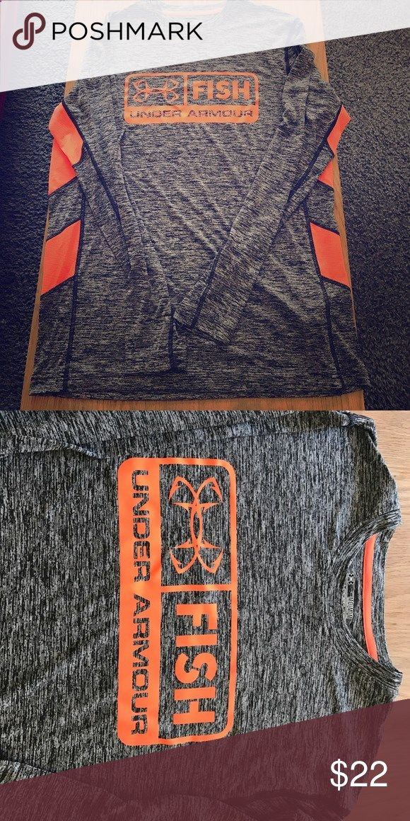 Mens under armor fishing shirt. Brand new! Brand new condition. He needed a different size but took tags off. Under Armour Shirts Tees - Long Sleeve
