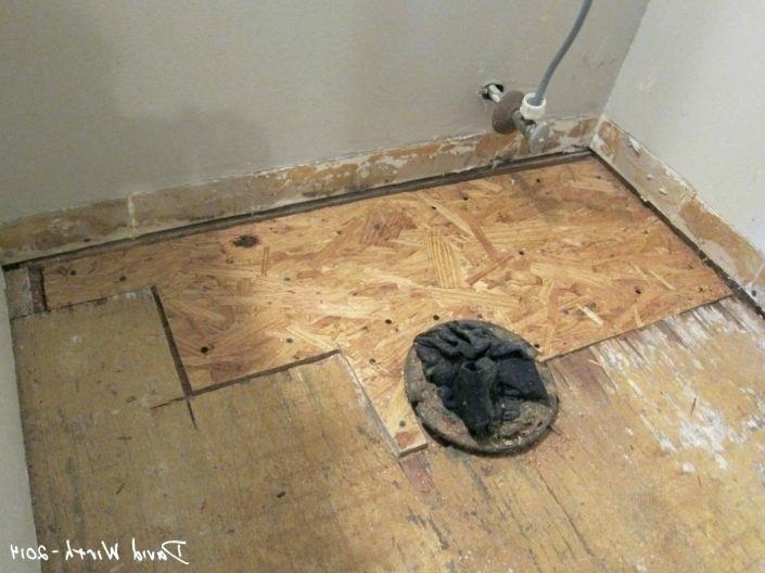 Bathroom Floor Repair Water Damage On