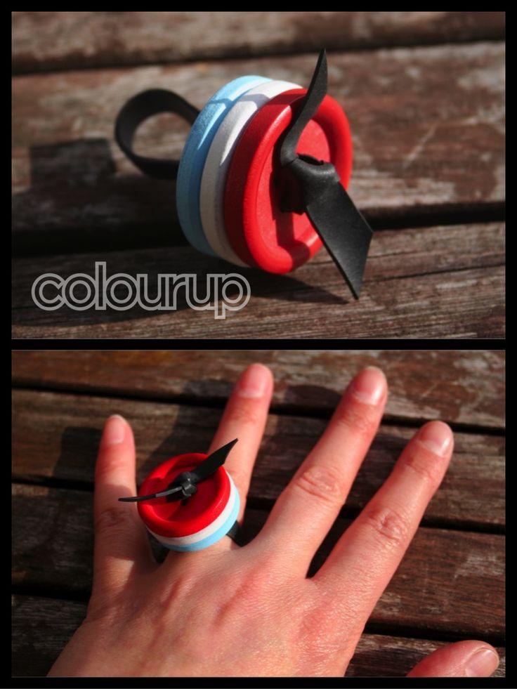 Knoop-ringen €3,25 Gemaakt van #recycle #fietsband en #knopen #buy #online…