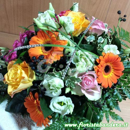Bouquet fiori misti colorato