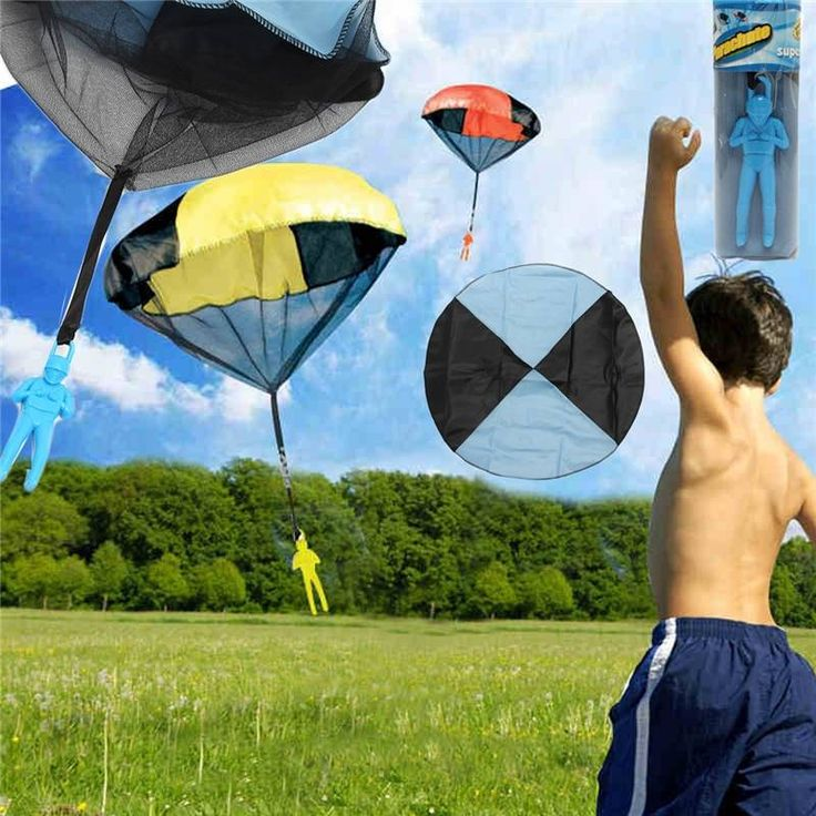 5PCS Random Color Skydiver Kids Toy Hand Throwing Parachute Kite Outdoor Play Game Toy Sale - Banggood.com