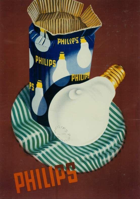 Philips bulb ad ca 1949