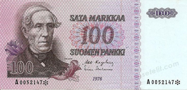 100 mark, old finnish bank note