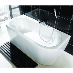 Wickes Blend D-Shaped Bath White 1700mm | Wickes.co.uk
