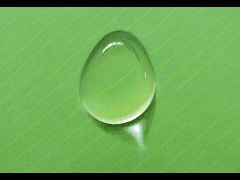 Cómo dibujar una gota de agua con colores