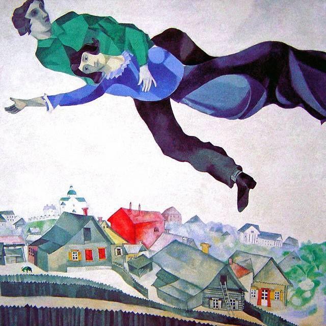 Marc Chagall  - 1918 Olio su tela (45 x 56 cm) Luogo di esposizione: Tretyakov Gallery, Moscow, Russia