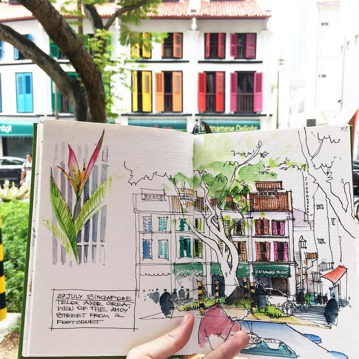 Travelling with your Sketchbook Diary. By Alena Kudriashova.